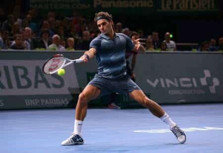 Federer Beats Del Potro in Bercy