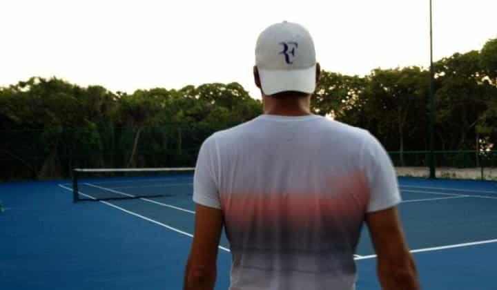 Federer Dubai Training Camp