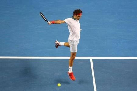 Federer 1 Handed Backhand AO 2014