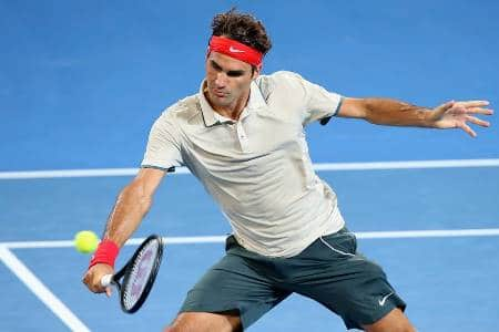 Federer Brisbane 2014 Volley