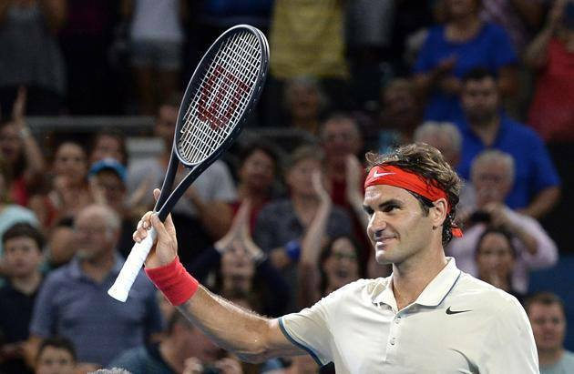 Federer defeats Chardy Brisbane