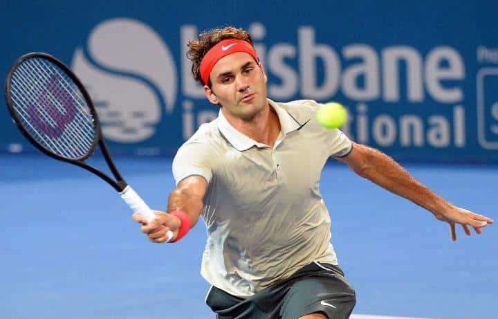 Federer defeats Nieminen Brisbane 2014