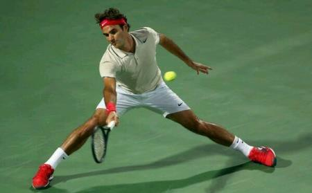 Federer on the stretch vs Rosol