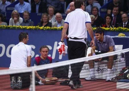 Federer Dolgopolov Basel