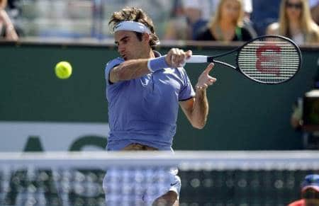 Federer Forehand Indian Wells 2014