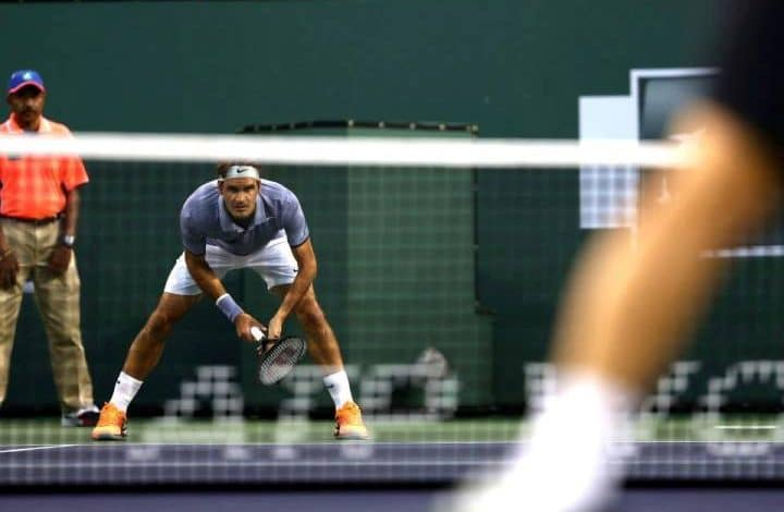 Federer Haas Indian Wells 2014