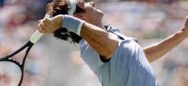 Federer Serve Nishikori Miami 2014