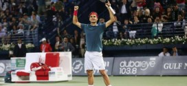 Federer defeats Berdych Dubai Final 2014