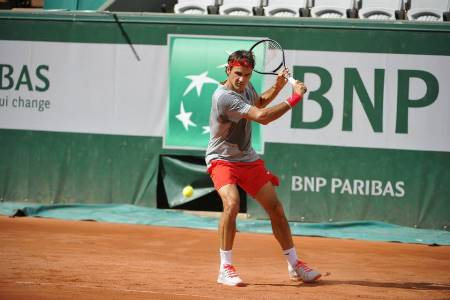 Federer Hiting on Chatrier