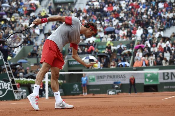 Federer Second Round Roland Garros 2014