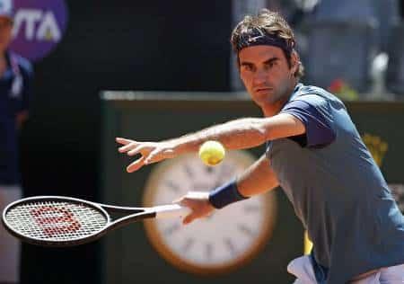 Federer vs Chardy Rome