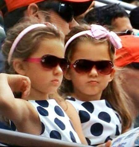 Twins Rocking the Polkadots