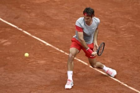 Federer Backhand French Open 2014