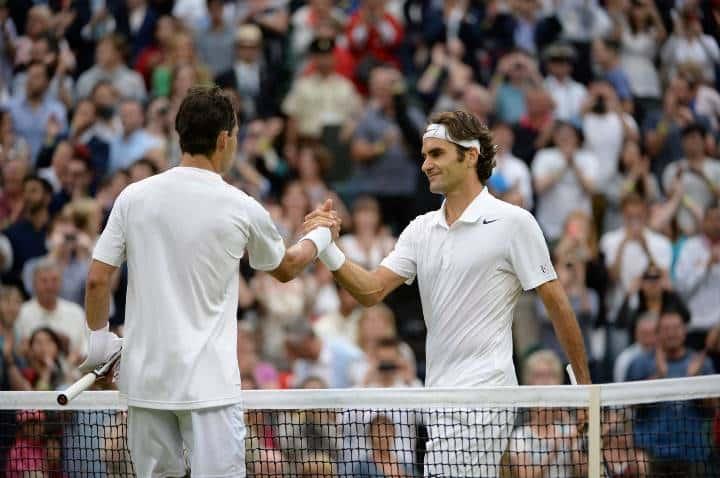 Federer Giraldo Wimbledon 2014