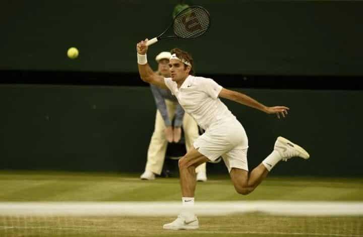 Federer Muller Wimbledon Day 4 2014