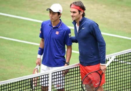 Federer Nishikori Halle