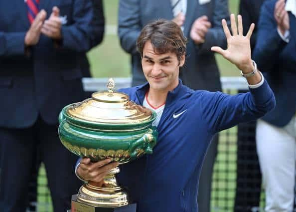 Federer Wins Halle 2014
