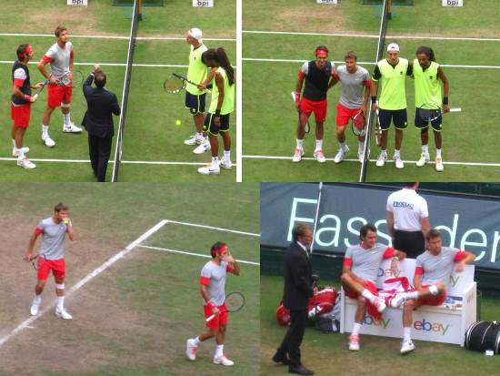Federer & Chiudinelli Halle