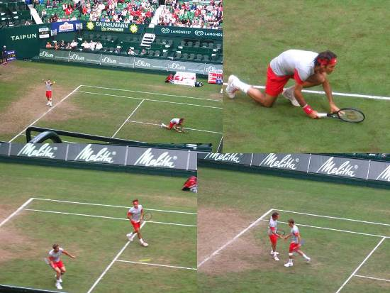 Federer Doubles in Halle