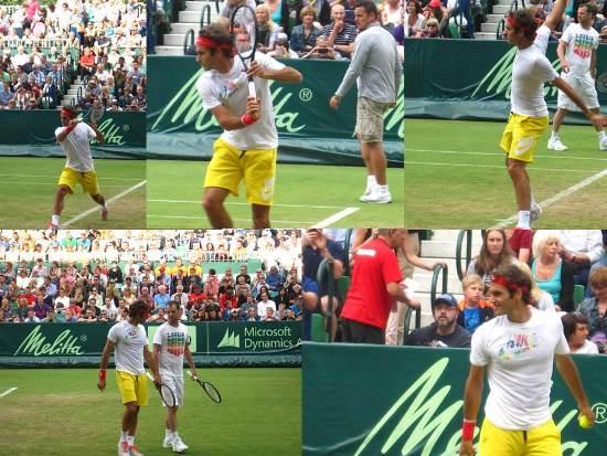 Federer Practice Halle