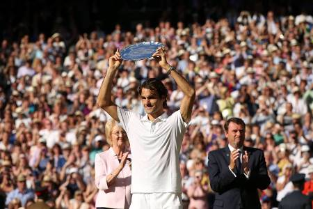 Federer Wimbledon 2014 Runner Up