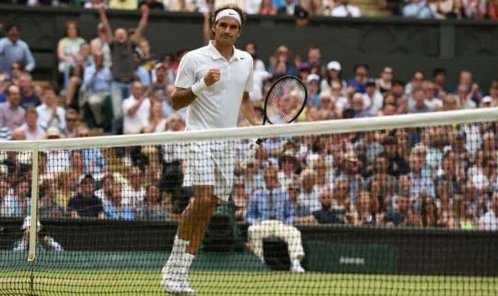 Federer into Semi Finals Wimbledon 2014