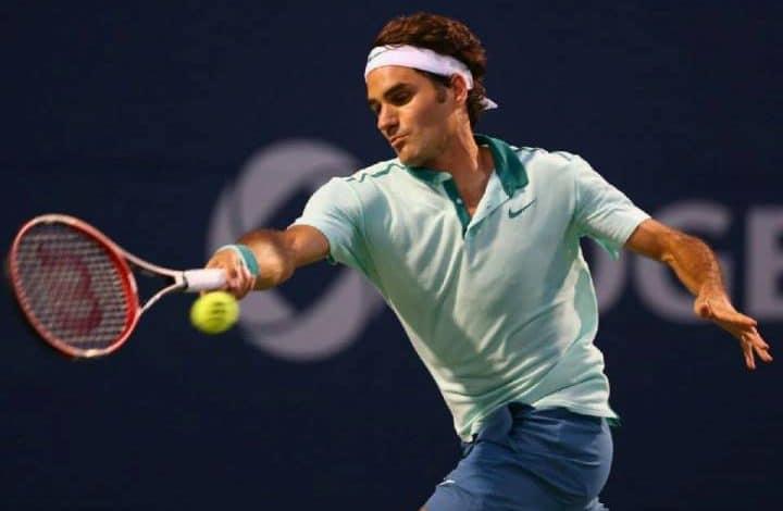 Federer Defeat Lopez Roger's Cup 2014