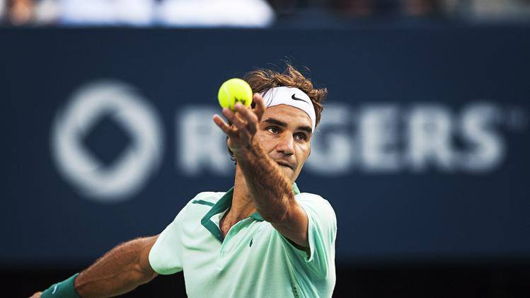 Photo of Federer Up and Running in Toronto