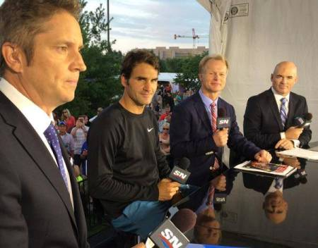Federer in the Studio