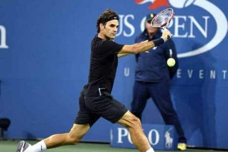 Federer Slice vs RBA US Open 4th Round 2014