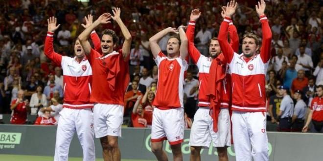 Swizterland defeat Italy Davis Cup