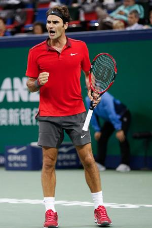 Federer Come on vs Agut Shanghai