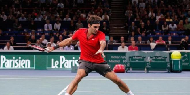 Federer Defeat Chardy Paris