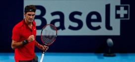 Federer Defeats Dimitrov Basel 2014