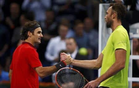 Federer Karlovic Basel 2014