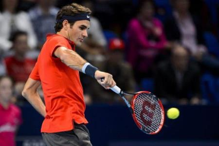 Federer Return of Serve Basel 2014