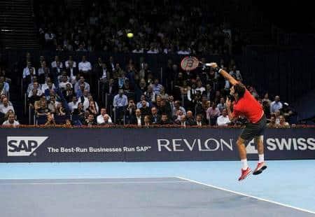 Federer Serve Leg Drive