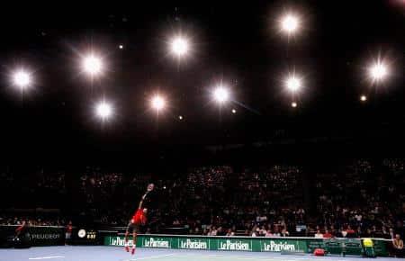 Federer  Serving Bercy 2014