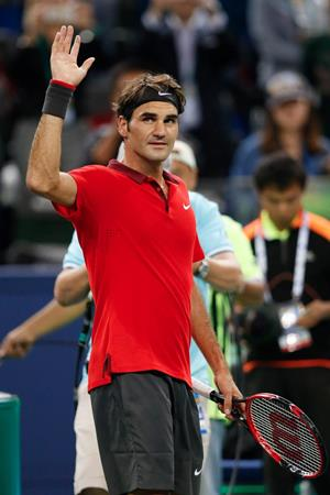 Federer Wins Shanghai 3rd Round 2014