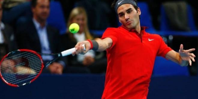 Federer defeat Istomin Basel 2014