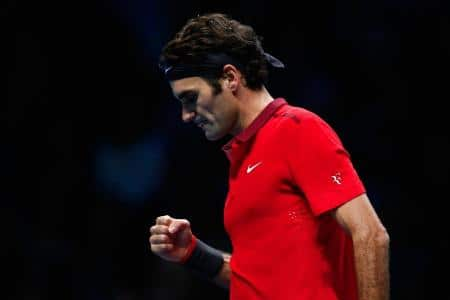 Federer Wins 2nd Match London 2014