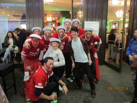 Swiss Fans Out in Force
