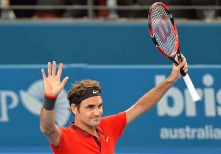 Federer Routines Dimitrov Brisbane