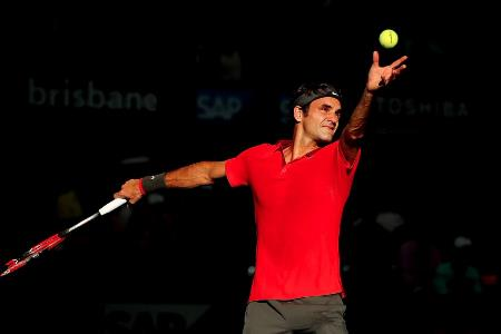Federer Serving Dimitrov Brisbane