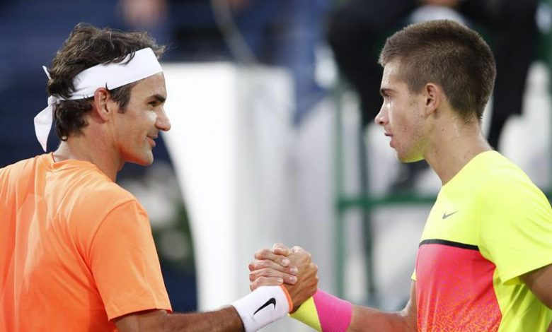 Federer Defeats Coric Dubai Semi Final 2015