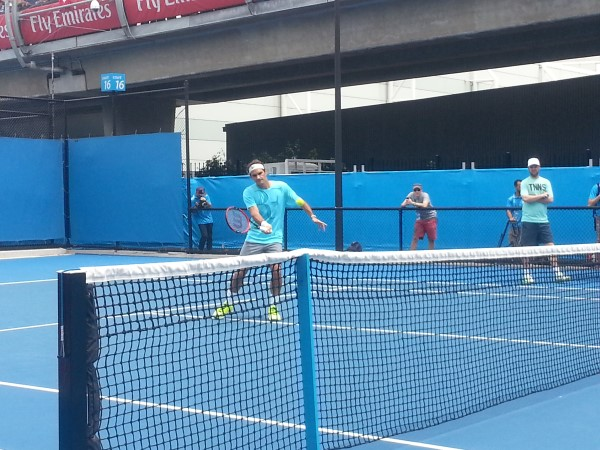 Federer Practice Session 1 AO