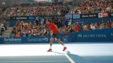 Federer Serving Brisbane