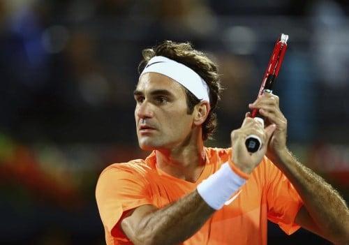 Federer Volley Dubai QF 2015