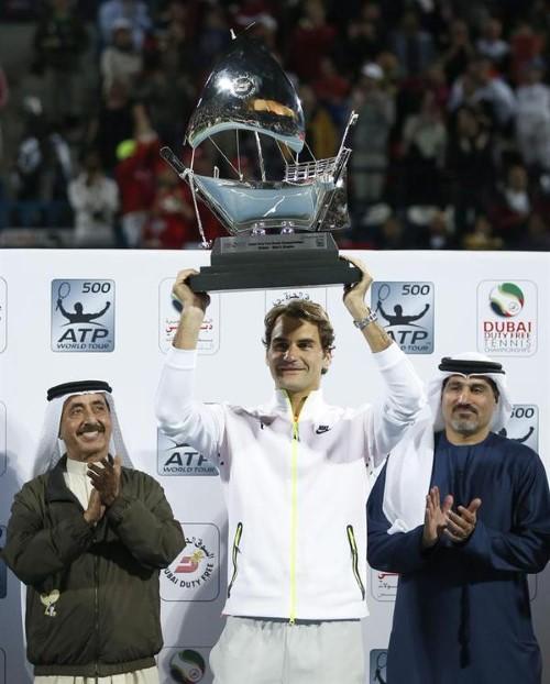 Federer Wins Dubai 2015