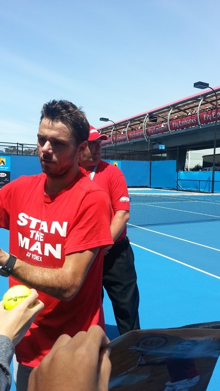 Stan Signing Autographs